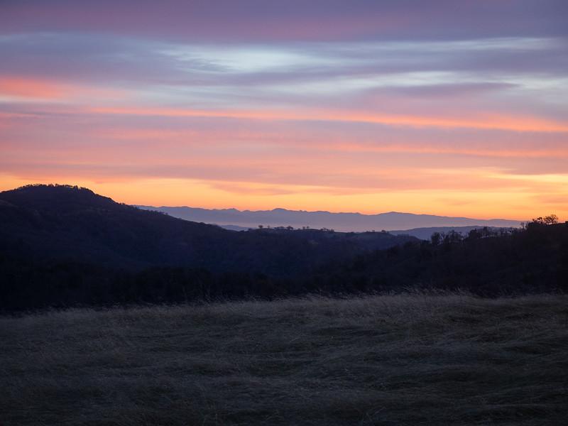 Sunset over Gilroy
