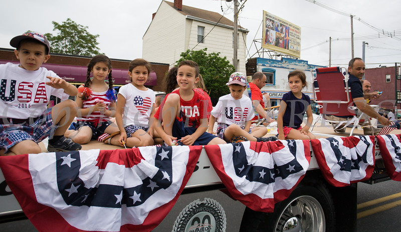 Papaleo's Auto Body participated in the City of Newburgh hosted Memorial Day Parade on Monday, May 30, 2016, which proceeded along Broadway to Washington's Headquarters. Hudson Valley Press/CHUCK STEWART, JR.