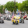 A motorcycle procession, led by Keith Hallock, pays tribute to all the brave men and women who gave their lives in sacrifice to our country during the City of Newburgh hosted Memorial Day Parade on Monday, May 30, 2016, which proceeded along Broadway to Washington's Headquarters. Hudson Valley Press/CHUCK STEWART, JR.