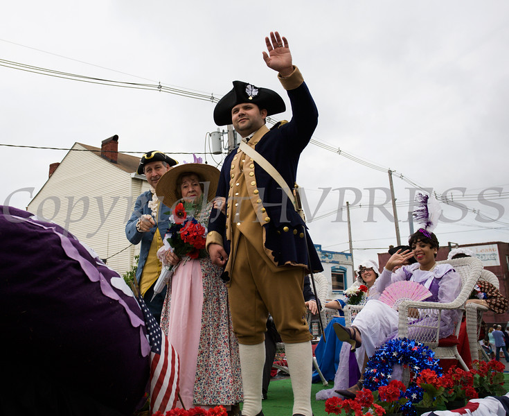 A float in honor of the Military Order of the Purple Heart Chapter 1782 participated in the City of Newburgh hosted Memorial Day Parade on Monday, May 30, 2016, which proceeded along Broadway to Washington's Headquarters. Hudson Valley Press/CHUCK STEWART, JR.