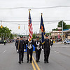 The City of Newburgh Fire Department Color Guard marched in the City of Newburgh hosted Memorial Day Parade on Monday, May 30, 2016, which proceeded along Broadway to Washington's Headquarters. Hudson Valley Press/CHUCK STEWART, JR.