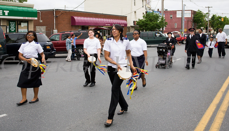 Members of the Salvation Army marched in the City of Newburgh hosted Memorial Day Parade on Monday, May 30, 2016, which proceeded along Broadway to Washington's Headquarters. Hudson Valley Press/CHUCK STEWART, JR.
