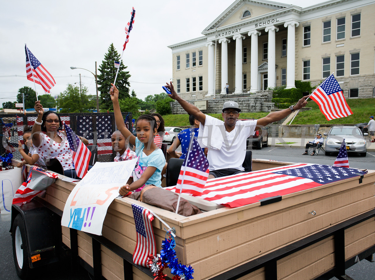 Living in Jesus Ministry Church participated in the City of Newburgh hosted Memorial Day Parade on Monday, May 30, 2016, which proceeded along Broadway to Washington's Headquarters. Hudson Valley Press/CHUCK STEWART, JR.