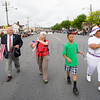 Orange County Legislator James Kulisek joins City of Newburgh Councilwomen Genie Abrams and Hilary Rayford for the City of Newburgh hosted Memorial Day Parade on Monday, May 30, 2016, which proceeded along Broadway to Washington's Headquarters. Hudson Valley Press/CHUCK STEWART, JR.