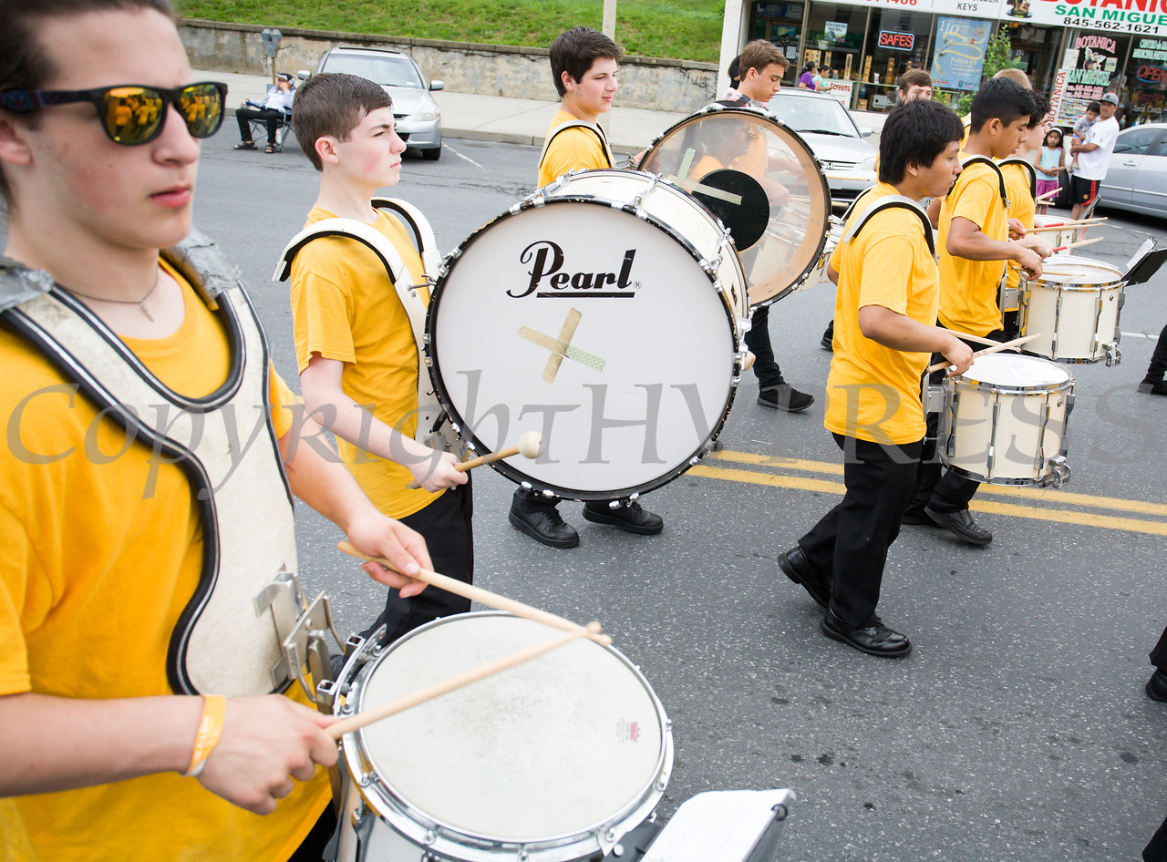 Members of the Newburgh Free Academy Band marched in the City of Newburgh hosted Memorial Day Parade on Monday, May 30, 2016, which proceeded along Broadway to Washington's Headquarters. Hudson Valley Press/CHUCK STEWART, JR.