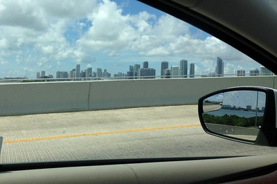 Miami's famous skyline in passing
