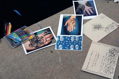 Henna design examples provided by Meeta Mastani as inspiration.