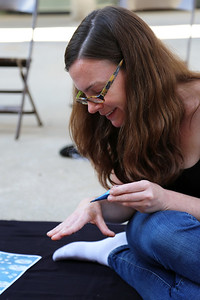 Sarah O'Farrell (MFA, Art) starts the process.