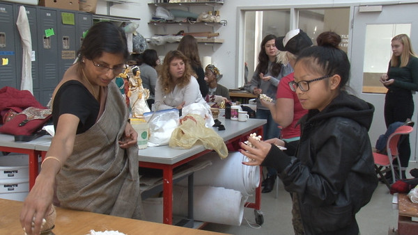 """Lakshmi Narayan Kadambi guest lectures in """"Tactile Textiles: From 2D to 3D"""""""