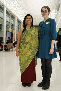 Meeta Mastani and Interdisciplinary Artist in Residence Program Coordinator Emily Lewis.