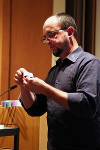 Peter Krsko demonstrates.