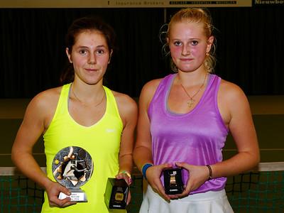 03a. Finalists girls - ITF Heiveld junior indoor open 2016