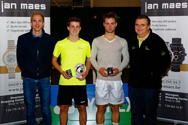 07. Finalists boys - ITF Heiveld junior indoor open 2016