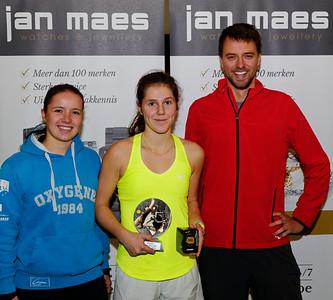 04. Victoria Kalaitzis and coaches - ITF Heiveld junior indoor open 2016