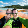 Selfie time at the Grand Prismatic Spring!