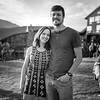 On our last night in JHole we had a big company dinner, then went outside to take some company photos right during Golden Hour!<br /> <br /> Megan and her handsome hubby, Joel
