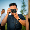 On our last night in JHole we had a big company dinner, then went outside to take some company photos right during Golden Hour!<br /> <br /> Duc and his fancy Leica