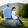 On our last night in JHole we had a big company dinner, then went outside to take some company photos right during Golden Hour!<br /> <br /> Julian and his son