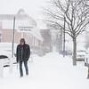 JOED VIERA/STAFF PHOTOGRAPHER Lockport, NY-A man braves the weather on Main Street.