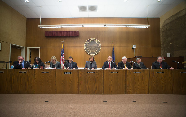 JOED VIERA/STAFF PHOTOGRAPHER Lockport, NY-Lockport holds its first City Council meeting of the year at the Municipial Building.