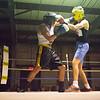 JOED VIERA/STAFF PHOTOGRAPHER Niagara Falls, NY-Nico Cirrito(blue) and Greg Webb(red) trade blows  during a boxing match at Casal's Boxing Gym.