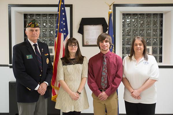 JOED VIERA/STAFF PHOTOGRAPHER Lockport, NY-VFW Commander Daniel Marsh, Jessica Oates, William Collins and President Amy Drake.