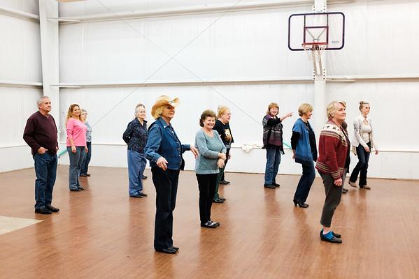 JOED VIERA/STAFF PHOTOGRAPHER- Pendleton, NY-Dotty Ryer teaches a dancing class.
