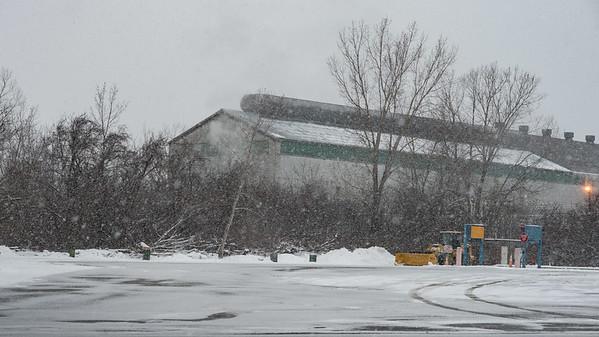 JOED VIERA/STAFF PHOTOGRAPHER Lockport, NY-Snow falls on an empty ATI lot.
