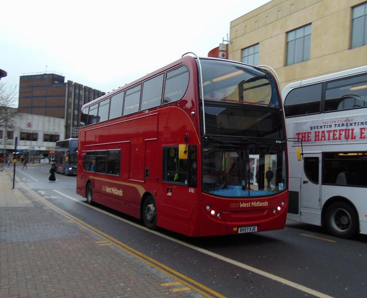 National Express West Midlands Enviro 400 BV57XJE 4740 in Birmingham.