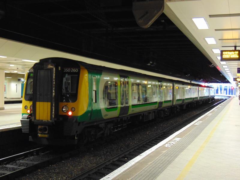 London Midland Class 350 Desiro no. 350260 at Birmingham New Street.