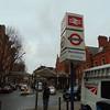 London Marylebone station forecourt.