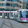 Midland Metro CAF Urbos 3 tram no. 26 at Birmingham Bull Street.