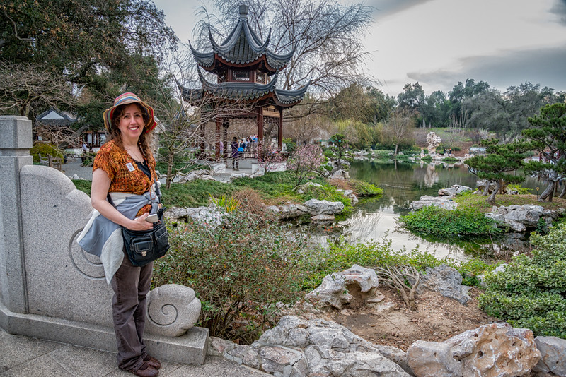 My daughter Kerri in the Chinese Garden