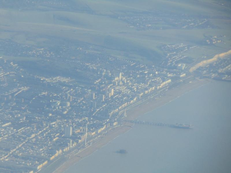 Passing over Brighton.