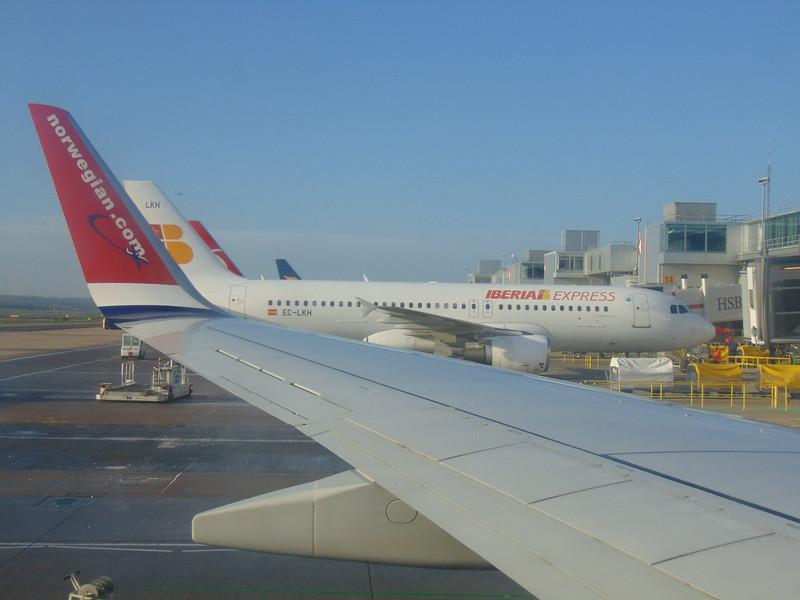 Iberia Express Airbus A320 EC-LKH at London Gatwick.