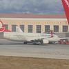 Turkish Airlines Boeing 737 TC-JYA at Malaga Costa Del Sol airport.