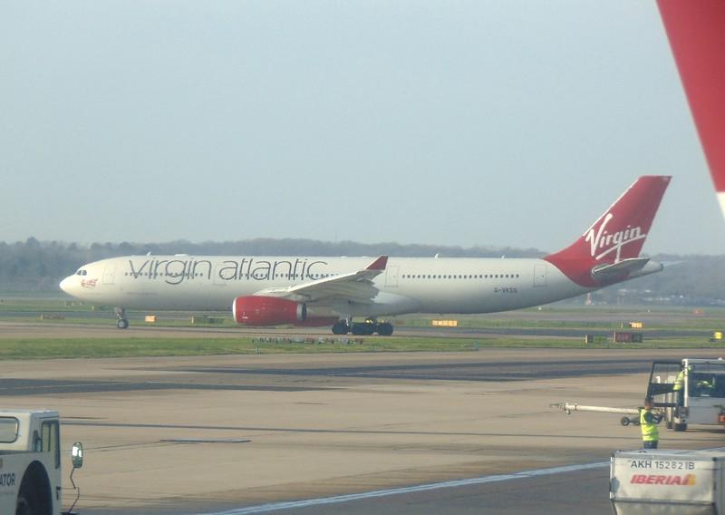 Virgin Atlantic Airbus A330 G-VKSS at London Gatwick.