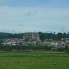 The town of Arundel seen from the train.