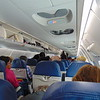 Delta Connection SkyWest Bombardier CRJ-900 interior at Seattle Tacoma on a flight to Calgary.