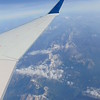 Passing over the Rocky Mountains while flying from Calgary towards Seattle on Skywest Delta Connection Bombardier CRJ-900 N822SK.