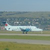 Air Georgian Air Canada Express Beech 1900D C-GAAR at Calgary airport.