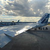 Waiting to leave Calgary on WestJet Boeing 767-300 C-GOGN on a flight to London Gatwick.