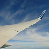 Flying from Calgary to London Gatwick on WestJet Boeing 767-300 C-GOGN.