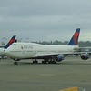 Delta Airlines Boeing 747-400 N665US at Seattle-Tacoma Airport.