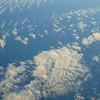 The Atlantic Ocean from 35,000 feet.