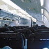 WestJet Boeing 767-300 C-GOGN interior at Calgary Airport on a flight to London Gatwick.