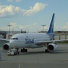Air Transat Airbus A330 C-GPTS at Calgary Airport on a flight to London Gatwick.