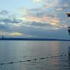 looking across to Seattle across Lake Washington from Maydenbauer Bay, Bellevue, WA.