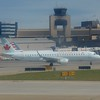 Air Canada Embraer E190 C-FMZB at Calgary Airport.
