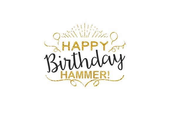 Happy Birthday Hammer! 07.13.2016